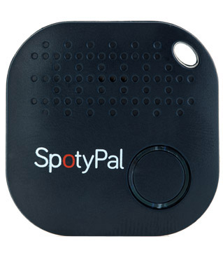 Blue Black SpotyPal device - key tracker