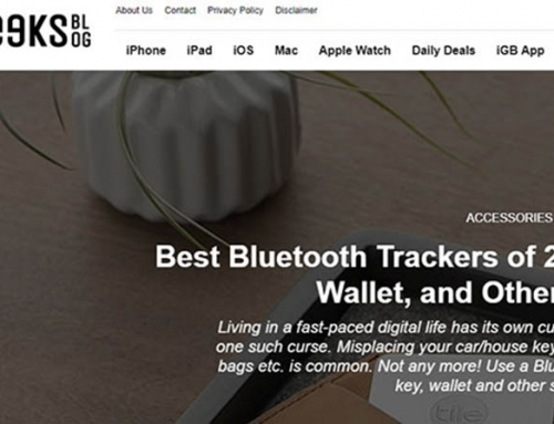 We've been featured in the iGeeksBlog