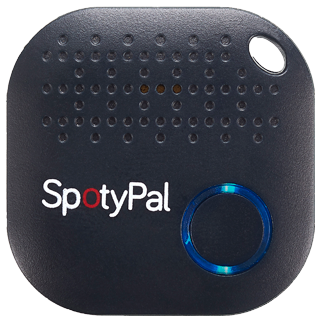 Blue Black SpotyPal device - wallet tracker